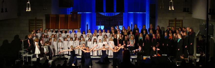 Utdrag fra «Herr Petters lovsang» på jubileumskonsert høsten 2010, foto: Mads Ole Nygård Braaf